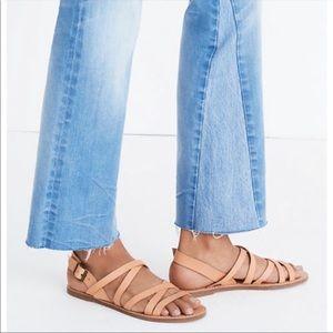 Madewell Boardwalk Multi strap Sandal Nude Beige 8
